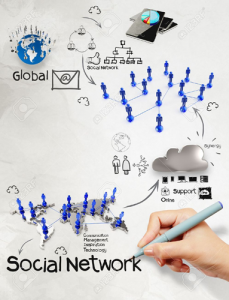 22006780-hand-drawing-diagram-of-social-network-structure-as-concept-Stock-Photo