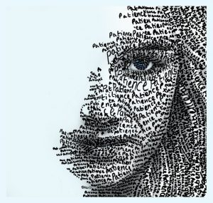 77f8081cda32b390fffcf30c2ed2f4f2--typography-portrait-newspaper-art